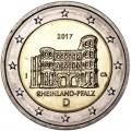 2 евро 2017 Германия, Рейнланд-Пфальц, Порта Нигра, двор J