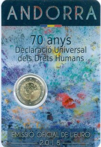 2 euro 2018 Andorra, 70 years of universal declaration of human rights
