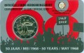 2 euro 2018 Belgium, Student Uprising in May 1968, in blister