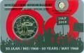 2 евро 2018 Бельгия, Студенческие восстания в мае 1968 года, в блистере