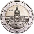 2 euro 2018 Germany Berlin, Charlottenburg Palace, mint mark D