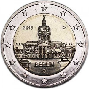 2 euro 2018 Germany Berlin, Charlottenburg Palace, mint mark G