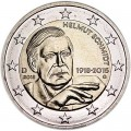2 euro 2018 Germany Helmut Schmidt, mint mark G