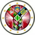 2 евро 2018 Латвия, 100 лет независимости (цветная)