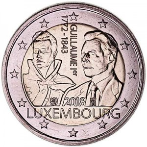 2 euro 2018 Luxembourg, William I