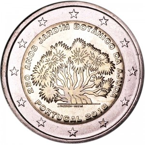 2 euro 2018 Portugal, 250 years of the Botanical Gardens