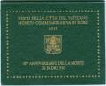 2 евро 2018 Ватикан, 50-летие со дня смерти Падре Пио, в буклете
