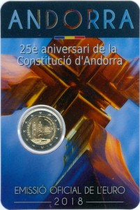 2 euro 2018 Andorra, 25 years of Constitution