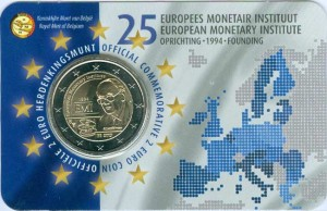 2 euro 2019 Belgium, European Monetary Institute, in blister