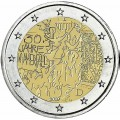 2 euro 2019 Germany 30th anniversary of the fall of the Berlin Wall, mint mark J