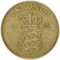 2 кроны 1958 Дания