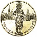 2 злотых 2000 Польша 1000 лет Вроцлаву