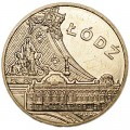 "2 zloty 2011 Poland Lodz series ""Historical places"""