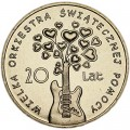 2 zloty 2012 Poland 20 years of the Orchestra of Christmas Charity (Orkiestra Swiatecznej Pomocy)