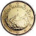 20 центов 2017 Сан-Марино, новый дизайн UNC