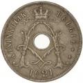 25 сантимов 1921 Бельгия, из обращения
