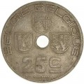 25 сантимов 1938 Бельгия, из обращения