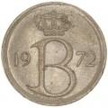 25 сантимов 1972 Бельгия, из обращения