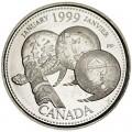 25 cents 1999 Canada, January