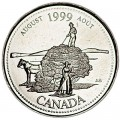 25 cents 1999 Canada, August