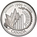 25 cents 1999 Canada, December