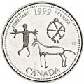 25 центов 1999 Канада, Февраль