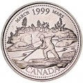 25 cents 1999 Canada, March