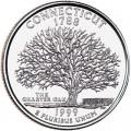 25 центов 1999 США Коннектикут (Connecticut) двор D