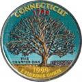 25 cent Quarter Dollar 1999 USA Connecticut (farbig)