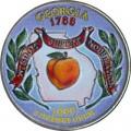 25 cent Quarter Dollar 1999 USA Georgia (farbig)