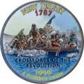 25 cent Quarter Dollar 1999 USA New Jersey (farbig)