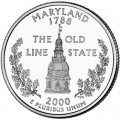 Quarter Dollar 2000 USA Maryland mint mark D