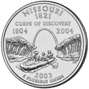 25 cents Quarter Dollar 2003 USA Missouri mint mark D