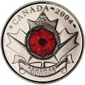25 cents 2004 Canada Flower mint mark P
