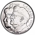25 cents 2005 Canada Veterans of WWII