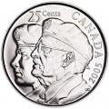 25 центов 2005 Канада Ветераны Второй Мировой войны