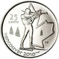 25 центов 2007 Канада Олимпиада 2010 Ванкувер: Биатлон