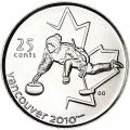 25 центов 2007 Канада  Олимпиада 2010 Ванкувер: Кёрлинг