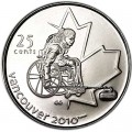 25 cents 2007 Canada Olympics 2010 Vancouver : Paralympic Games