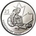 25 центов 2007 Канада Олимпиада 2010 Ванкувер: Инвалидный керлинг