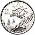 25 центов 2007 Канада Олимпиада 2010 Ванкувер: Слалом