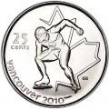 25 центов 2009 Канада Олимпиада 2010 Ванкувер: Конькобежный спорт