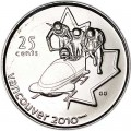 25 cents 2008 Canada Olympics 2010 Vancouver : Bobsleigh