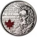 25 центов 2013 Канада, Шарль де Салаберри, цветная