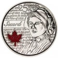 25 cents 2013 Canada, Laura Secord, colored