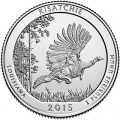 Quarter Dollar 2015 USA Kisatchie National Forest 27th National Park, mint mark S