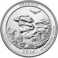 25 центов 2016 США Шони (Shawnee National Forest), 31-й парк, двор P