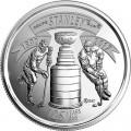 25 центов 2017 Канада, 125 лет Кубку Стенли