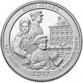 25 центов 2017 США Остров Эллис (Ellis Island), 39-й парк, двор D