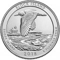 25 cents Quarter Dollar 2018 USA Block Island National Wildlife Refuge 45th Park, mint mark S